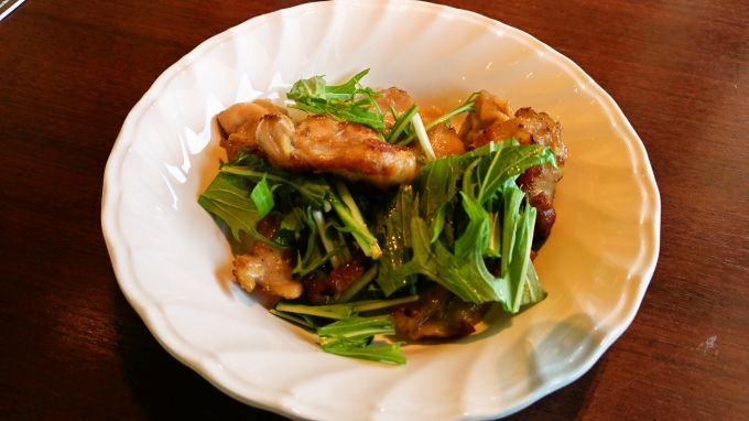 鶏ハラミの鉄板焼き